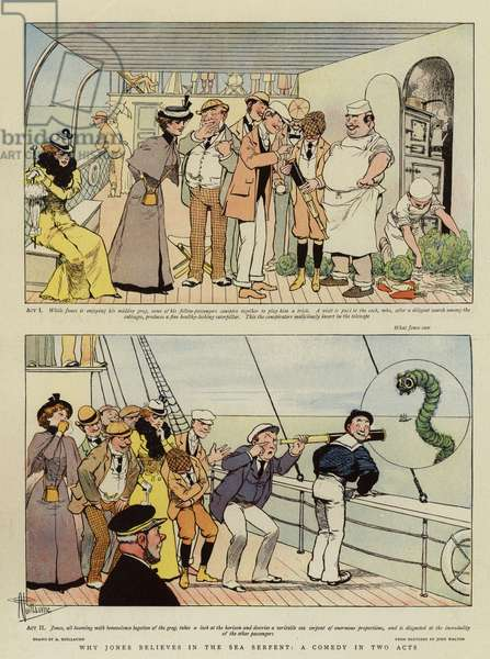 Why Jones believes in the Sea Serpent, a Comedy in two Acts (chromolitho)