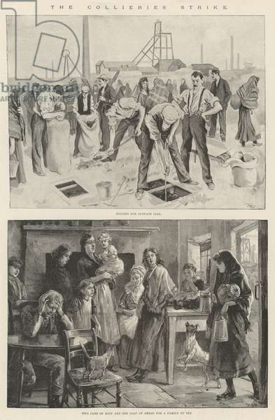 The Collieries Strike (engraving)