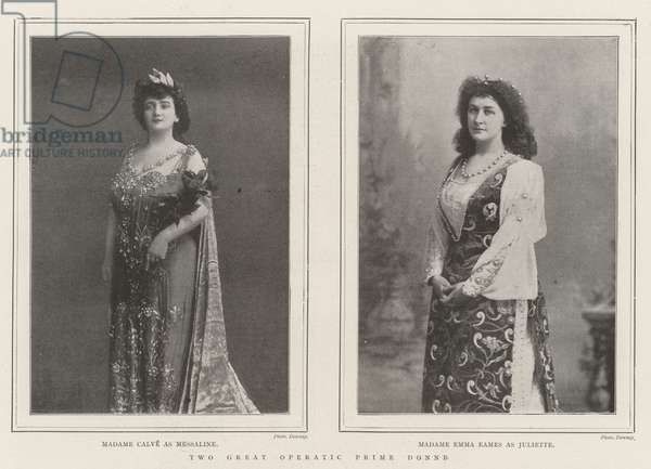 Two Great Operatic Prime Donne (engraving)