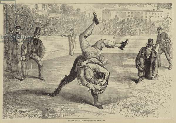 "Devon Wrestling, ""No Doubt About It"" (engraving)"