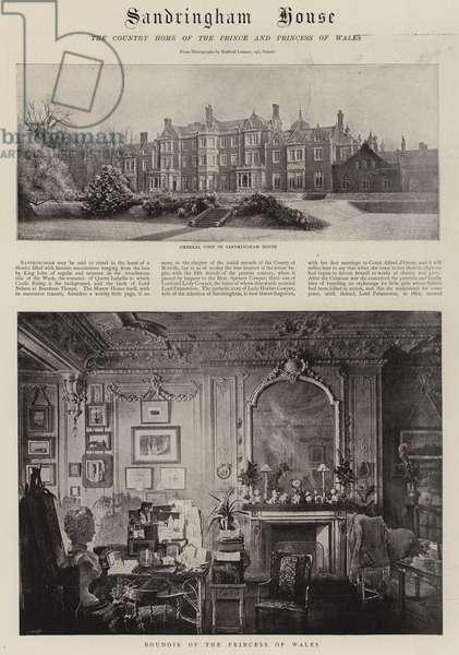 Sandringham House (b/w photo)