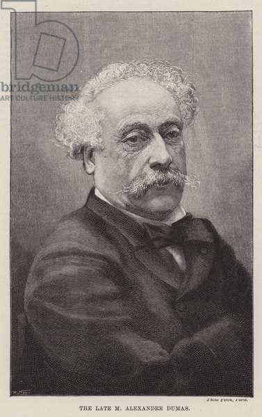 The Late M Alexandre Dumas (engraving)