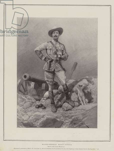 Major-General Baden-Powell (litho)