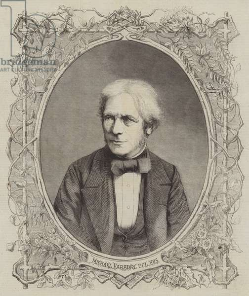 Michael Faraday, DCL, FRS (engraving)