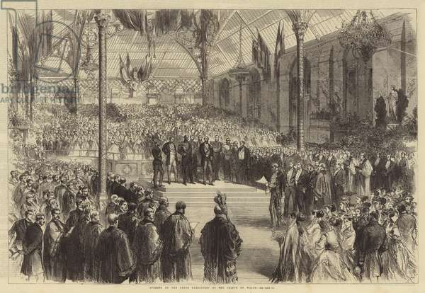 Opening of the Leeds Exhibition by the Prince of Wales (engraving)