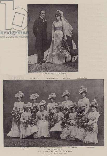The Crewe-Primrose Wedding (b/w photo)