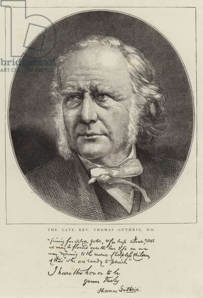 The Late Reverend Thomas Guthrie, DD (engraving)
