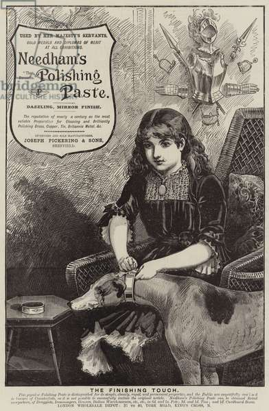Advertisement, Needham's Polishing Paste (engraving)