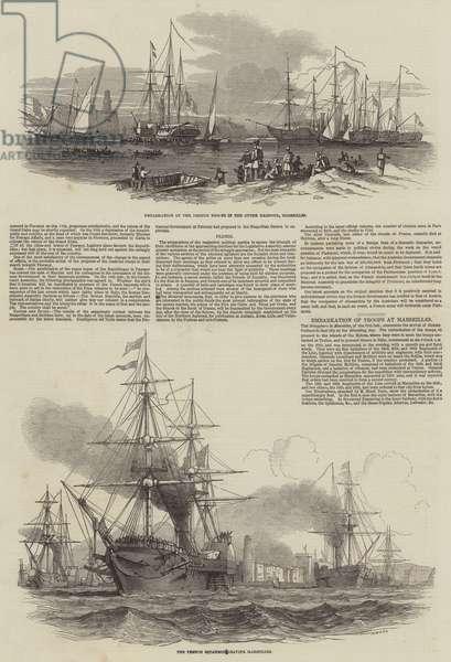 Embarkation of Troops at Marseilles (engraving)