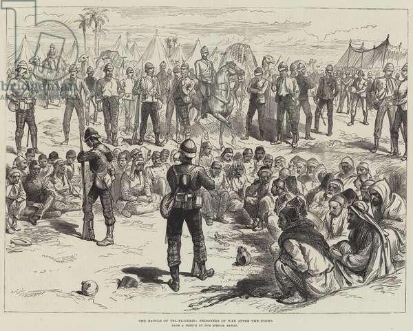 The Battle of Tel-el-Kebir, Prisoners of War after the Fight (engraving)