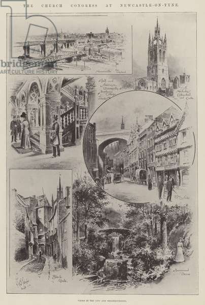 The Church Congress at Newcastle-on-Tyne (litho)