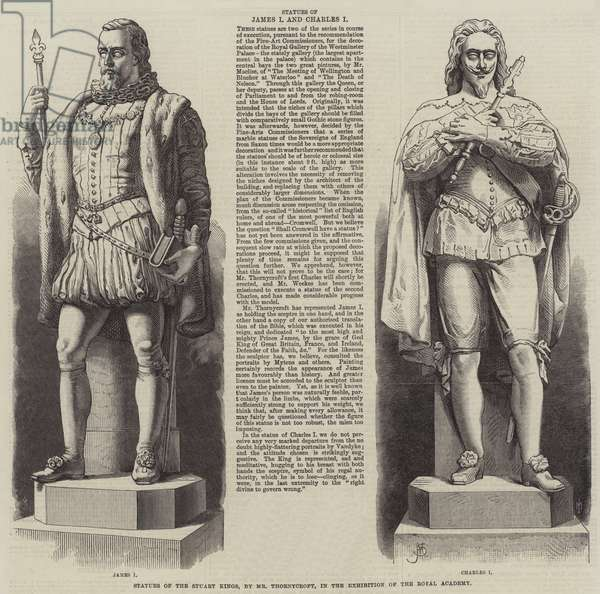 Statues of the Stuart Kings, by Mr Thornycroft (engraving)