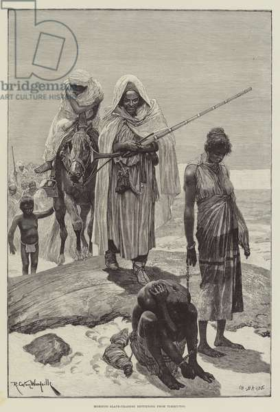 Morocco Slave-Traders returning from Timbuctoo (engraving)