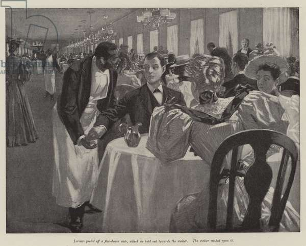 Illustration for The Day of their Wedding, by W D Howells (litho)