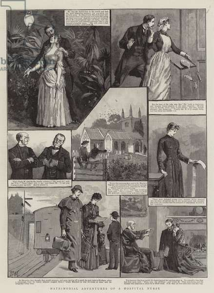 Matrimonial Adventures of a Hospital Nurse (engraving)