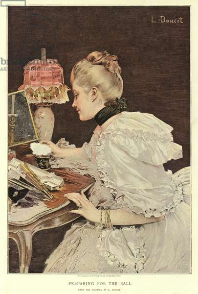 Preparing for the Ball (colour litho)
