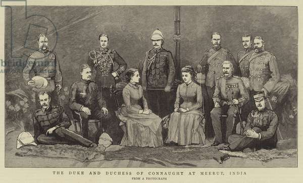 The Duke and Duchess of Connaught at Meerut, India (engraving)