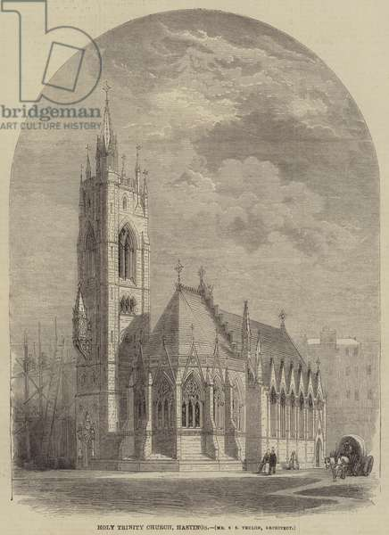 Holy Trinity Church, Hastings, Mr S S Teulon, Architect (engraving)