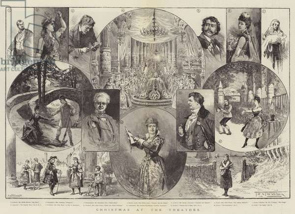 Christmas at the Theatres (engraving)