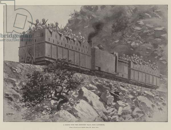 A Sortie with the Armoured Train from Ladysmith (litho)