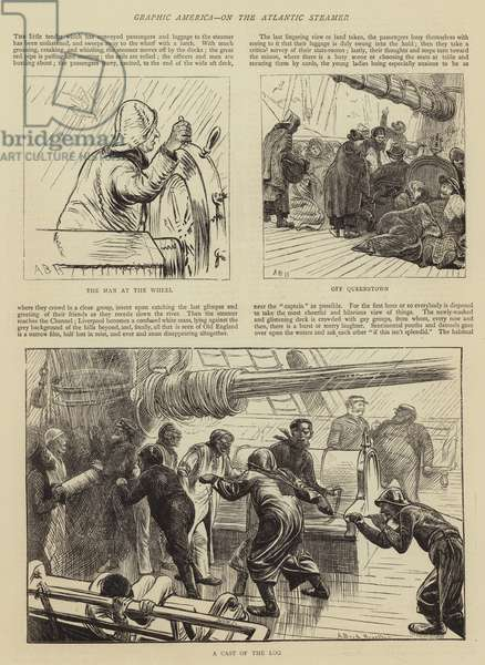 Graphic America, on the Atlantic Steamer (engraving)