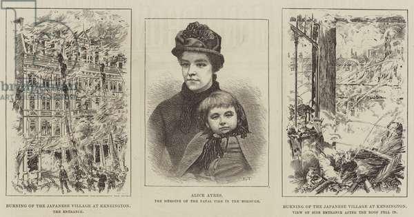 Burning of the Japanese Village of Kensington (engraving)