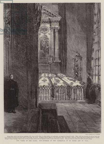The Tombs of the Czars, the Interior of the Cathedral of St Peter and St Paul (engraving)