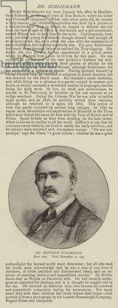 Dr Heinrich Schliemann (engraving)