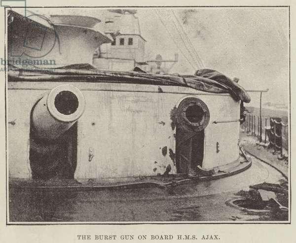 The Burst Gun on Board HMS Ajax (b/w photo)