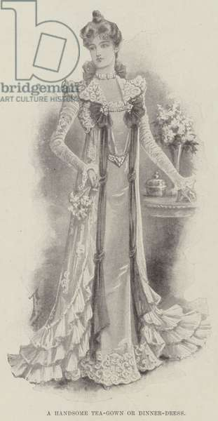 A Handsome Tea-Gown or Dinner-Dress (litho)