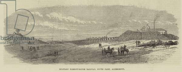 Military Narrow-Gauge Railway, South Camp, Aldershott (engraving)