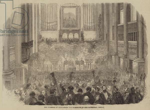 The Funeral of Alexander von Humboldt in the Cathedral, Berlin (engraving)
