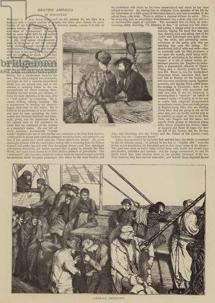 Graphic America, in Mid-Ocean (engraving)