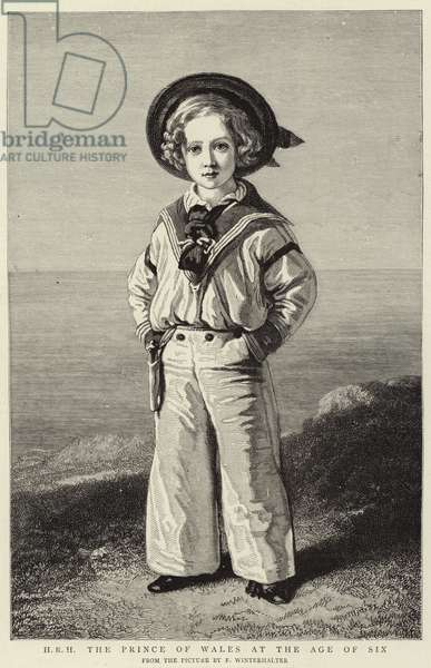 H R H The Prince of Wales at the age of Six (engraving)