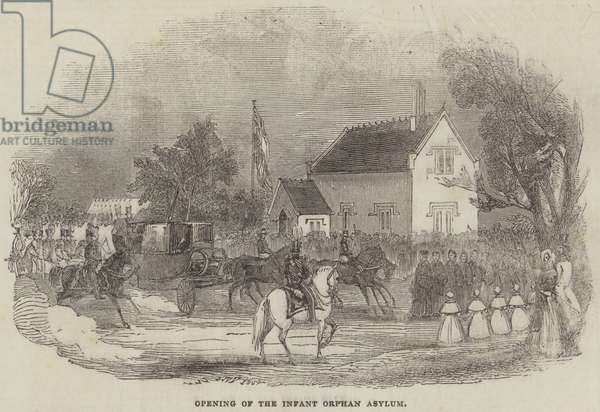 Opening of the New Infant Orphan Asylum at Wanstead (engraving)