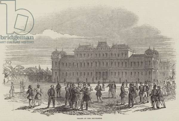 Troops at the Belvedere (engraving)