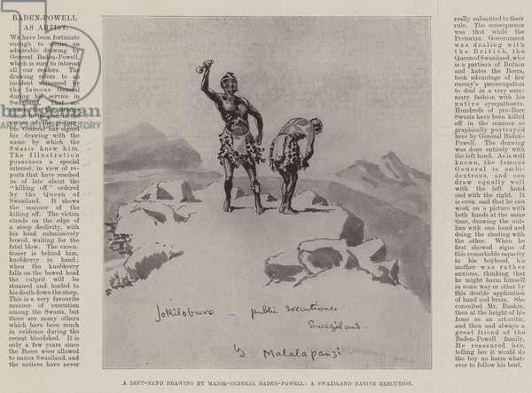 Baden-Powell as Artist (litho)