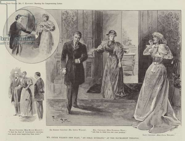 "Mr Oscar Wilde's New Play, ""An Ideal Husband,"" at the Haymarket Theatre (engraving)"