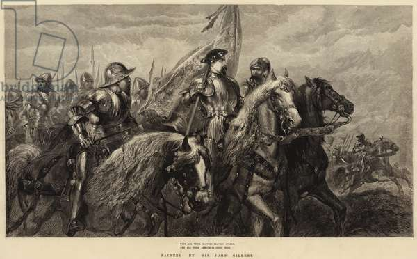With All Their Banners Bravely Spread, And All Their Armour Flashing High (engraving)