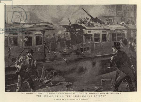 The Explosion on the Underground Railway (litho)