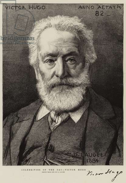 Celebrities of the Day, Victor Hugo (engraving)