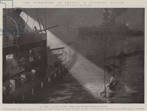 The Submarine in France, a Surprise Attack (engraving)