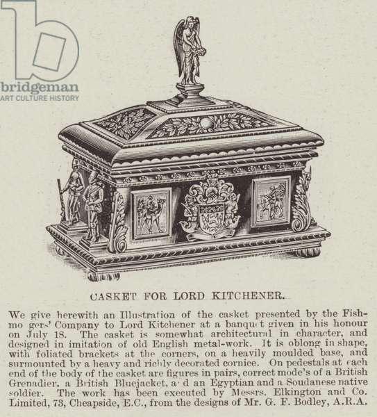 Casket for Lord Kitchener (engraving)