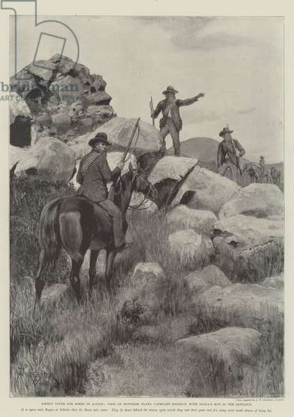 Likely Cover for Boers in Action, View on Bontibok Flats, Cathcart District, with Giaka's Kop in the Distance (engraving)