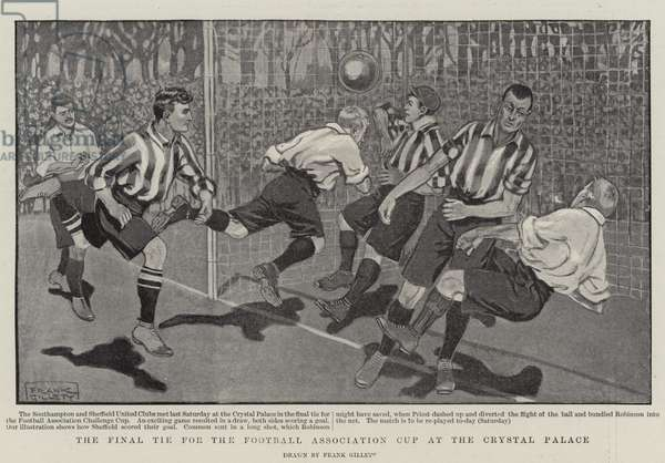 The Final Tie for the Football Association Cup at the Crystal Palace (litho)