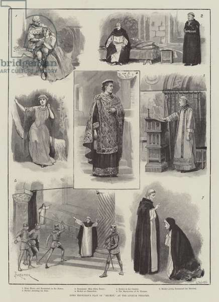 """Lord Tennyson's Play of """"Becket,"""" at the Lyceum Theatre (engraving)"""