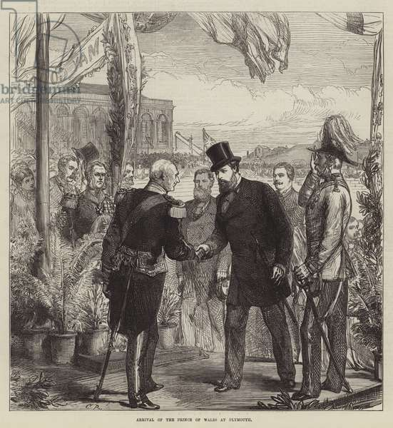 Arrival of the Prince of Wales at Plymouth (engraving)