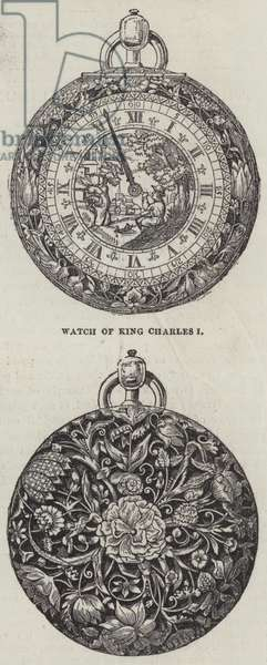 Watch of King Charles I (engraving)