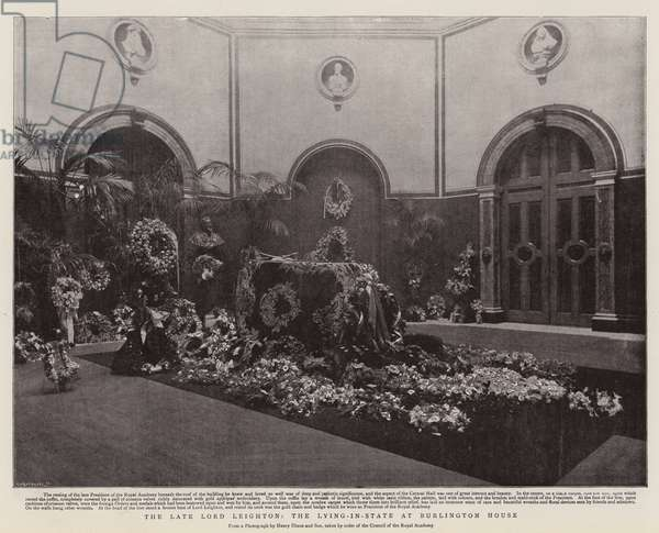 The Late Lord Leighton, the Lying-in-State at Burlington House (litho)
