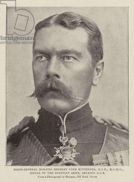 Major-General Horatio Herbert Lord Kitchener, KCB, KCMG, Sirdar of the Egyptian Army, created GCB (b/w photo)